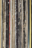 Colorful record collection Royalty Free Stock Image