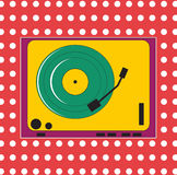 A colorful record player Stock Photos
