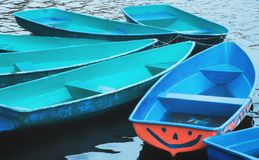 Colorful Recreation Boats Stock Photos