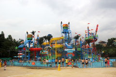 The colorful Recreation facility in the Guangzhou water park Royalty Free Stock Photography