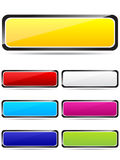 Colorful rectangle buttons Stock Photography
