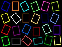 Colorful rectangle frames all over Stock Image