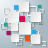 Colorful Rectangle Squares. Infographic design with colorful rectangle squares on the grey background. Eps 10  file Royalty Free Stock Photos