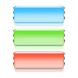 Colorful rectangle web buttons Stock Image