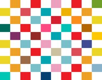 Colorful Rectangles Seamless Retro Flat Background vector illustration