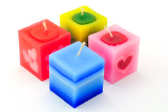 Colorful rectangular candles Royalty Free Stock Photos