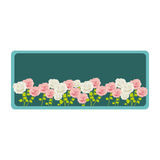 colorful rectangular frame with roses garden floral design Royalty Free Stock Images