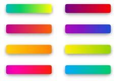 Colorful rectangular icon templates isolated on white. Set of colorful rectangular icon templates isolated on white background. Vector illustration stock illustration