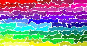 Smeared rainbow colored bars on white background - Moving colors wallpaper stock illustration