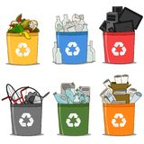 Colorful recycle bin vector illustration