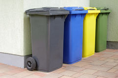 Colorful Recycle Bins Royalty Free Stock Photos