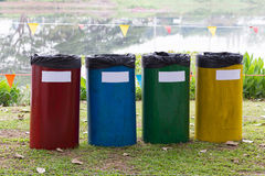 Colorful of recycle bins Royalty Free Stock Image