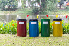 Colorful of recycle bins Royalty Free Stock Photos