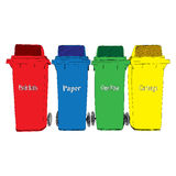 Colorful Recycle Bins vector Stock Photos