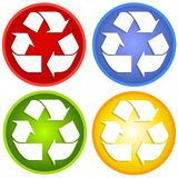 Colorful Recycle Symbols Stock Images