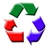 Colorful recycling symbol Royalty Free Stock Photography