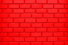 Colorful Red Brick Wall Background OR Colorful Red Brick Wall Background stock photo