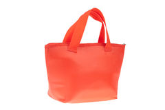 Colorful red cotton bag Royalty Free Stock Photos
