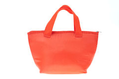Colorful red cotton bag Royalty Free Stock Photography