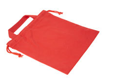 Colorful red cotton bag Royalty Free Stock Image