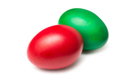 Colorful Red And Green Easter Eggs Stock Image