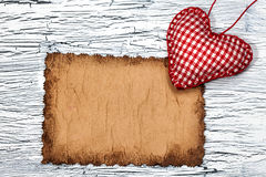 Colorful  red heart on vintage paper Royalty Free Stock Photo