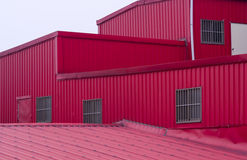 Colorful red huts Royalty Free Stock Photography