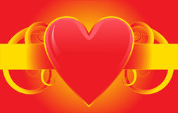 Colorful red love heart design Stock Photo