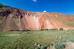 Colorful red mountains of Tien Shan Royalty Free Stock Photos