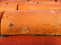 Colorful red/orange roof tile. S Royalty Free Stock Image