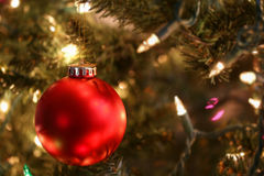 Colorful red ornament hanging Royalty Free Stock Photography