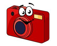 Colorful red point and shoot camera Stock Images