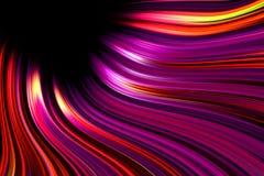 Colorful swirling light trails background vector illustration