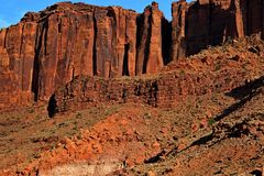 Towering cliffs of the South West desert royalty free stock photography