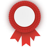 Colorful  red rosette with empty paper plate. Place for text. Eps10 vector design Royalty Free Stock Photos
