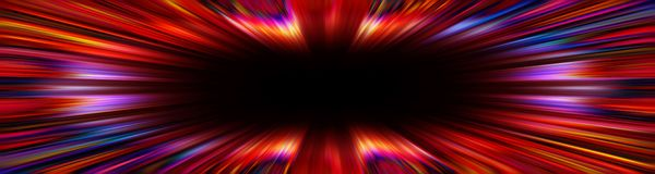 Colorful red starburst explosion border stock image