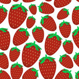 Colorful red strawberries fruits seamless pattern eps10 Stock Photos