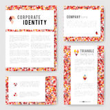 Colorful red triangle Identity-2 Royalty Free Stock Image