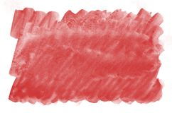 Colorful red watercolor background for wallpaper. Aquarelle bright color illustration.  stock photography