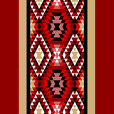 Colorful red white and black aztec ornaments geometric ethnic seamless border, vector Stock Photography