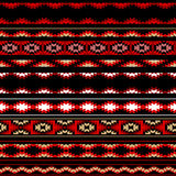 Colorful red white and black aztec striped ornaments geometric ethnic seamless pattern, vector Stock Image