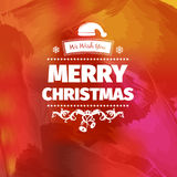 Colorful red yellow pinky Christmas card vector illustration. With design elements , color splash, for wallpaper, wallpaper. houses with lights on Stock Image