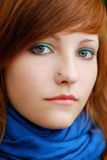 Colorful redhead teen with attitude. Stock Images