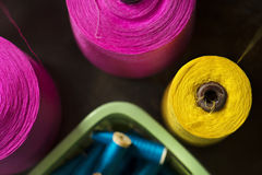 Colorful reels of threads Royalty Free Stock Photos