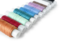 Colorful reels of threads Royalty Free Stock Photography