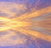 Colorful reflection of clouds Stock Images