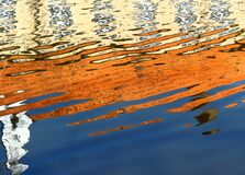 Colorful reflection on water