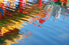 Colorful reflections royalty free stock images