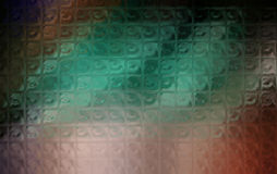 Colorful reflections on glass. Textured patterned glass surface with colorful reflections Royalty Free Stock Photo