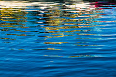Colorful reflections in rippled water Royalty Free Stock Image